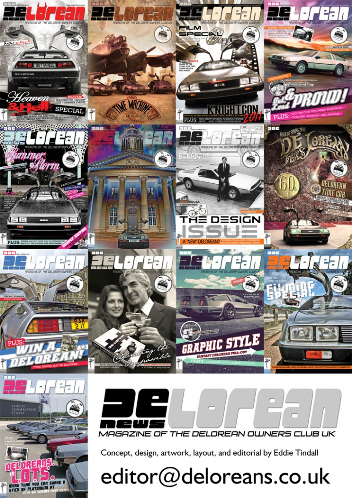 DeLorean News Cover Montage